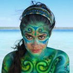 body paint cancun riviera maya