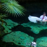 trash the dress cenote rivera maya